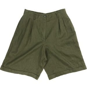NWT Sanctuary Pleated High Rise Linen Shorts #679
